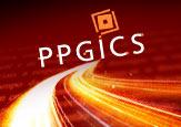 Logo do P P G I C S ao final de um feixe de luz